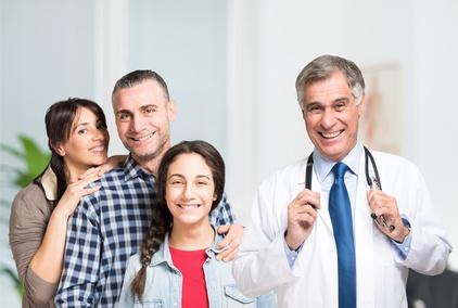 Famille chez le docteur