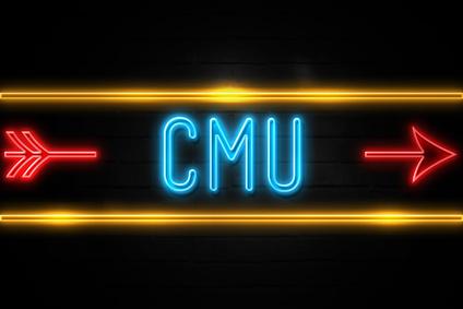 CMU en logo fluo